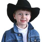 Rozkošný čtyři roky starý kovbojský klobouk — Stock fotografie