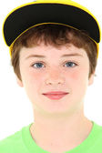 Boy in Yellow Cap — Stock Photo