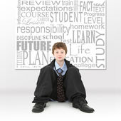 Boy in Education Concept Image — Stock Photo