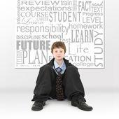 Menino na imagem do conceito de educação — Foto Stock