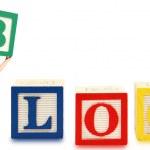 Alphabet Blocks BLOG — Stock Photo