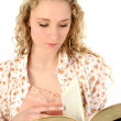 Beautiful Young Woman with Book — Stock Photo