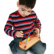 Boy Playing - Stock Photo