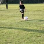 küçük futbol oyuncusu — Stok fotoğraf