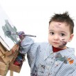 Stock Photo: Boy Child Painting 01