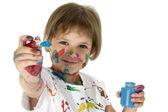 маленький художник — Стоковое фото