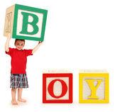 Alphabet Blocks BOY — Stock Photo