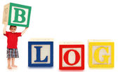 Alphabet Blocks BLOG — Stock Photo