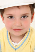 Boy in White Kangol — Stock Photo