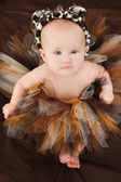 Baby Girl in Animal TuTu — Stock Photo