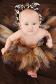 Baby Girl in Animal TuTu — Stock Photo