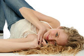 Glamorous Teen on Floor — Stock Photo