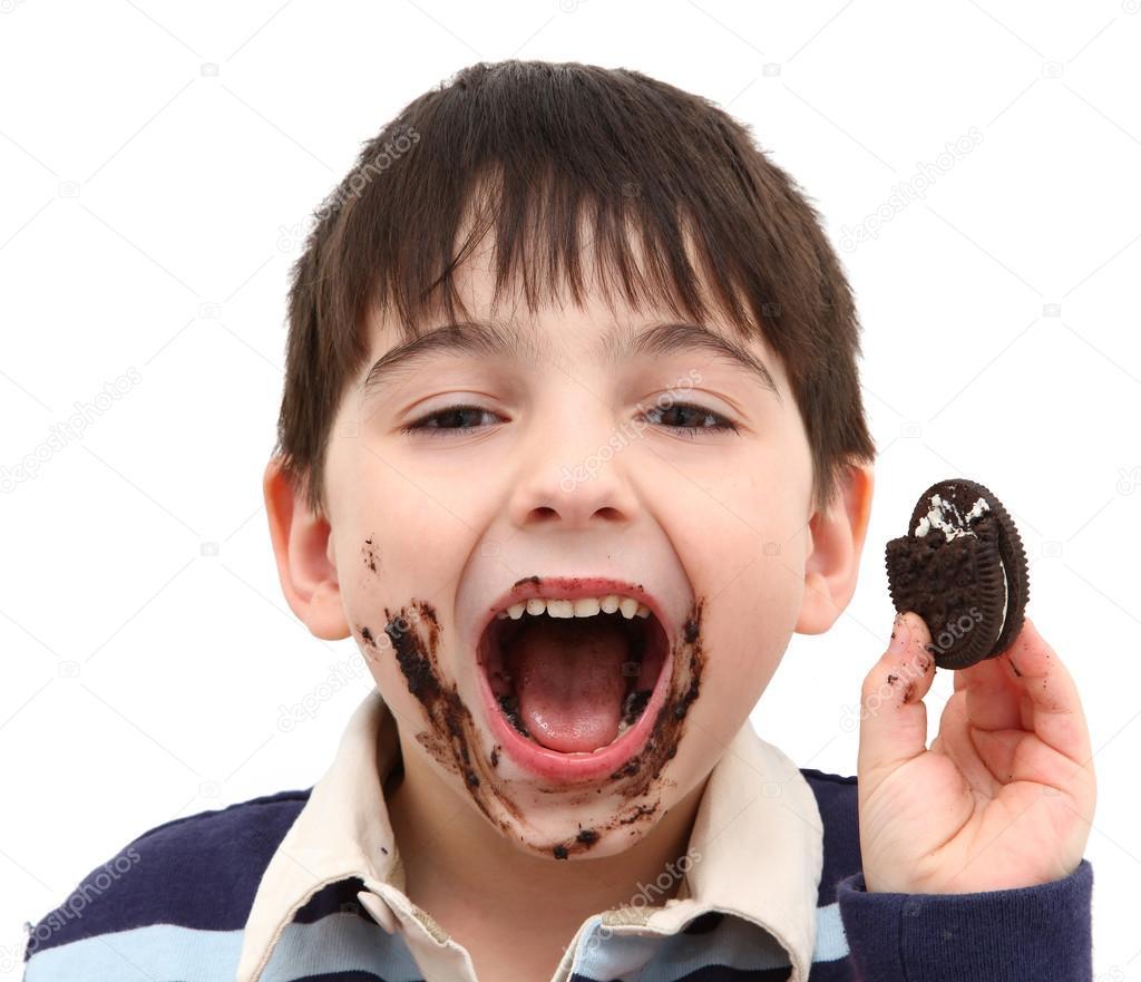 Eating chocolate cookies stock photo 169 duplass 12822391