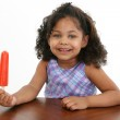 Little Girl with Icepop — Stock Photo