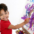 Adorable Painter — Stock Photo