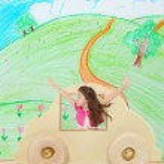 Girl in a Car — Stock Photo
