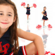Adorable Cheerleader — Stock Photo #12830477