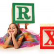 Alphabet Blocks RX — Stock Photo