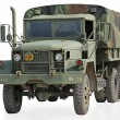 Isolated US Military Truck with Clipping Path - Stock Photo