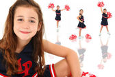 Adorable Cheerleader — Stock Photo