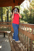 Child at Park Taking Photos — Stock Photo