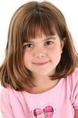 Close Up of Beautiful Five Year Old Girl — Stock Photo