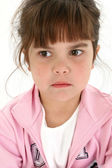 Close Up of Sad Five Year Old Girl — Stock Photo