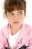 Angry Five Year Old Girl — Stock Photo