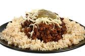 Organic Chili and Rice — Stock Photo