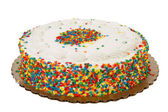 Sprinkle Cake — Stock Photo