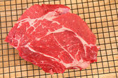 Raw Beef in Kitchen — Stock Photo