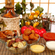 Italian Appetizers and Sauces - Stock Photo