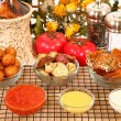 Italian Appetizers and Sauces - 图库照片