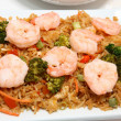 Asian Shrimp Fried Rice — Stock Photo