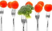 Broccoli och tomat — Stockfoto