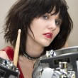 Beautiful Drummer Girl — Stock Photo #13098627