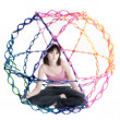 Collapsible Rainbow Colored Ball — Stock Photo