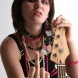 Bass Babe with Attitude — Stock Photo #13120520