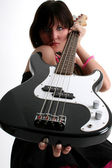Bass Babe — Stock Photo