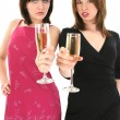 Ladies Toasting Champagne — Stock Photo