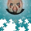 Futuristic Oracle Puzzle with Missing Pieces — Stock Photo