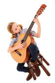 Adorable Guitar Girl — Stock Photo