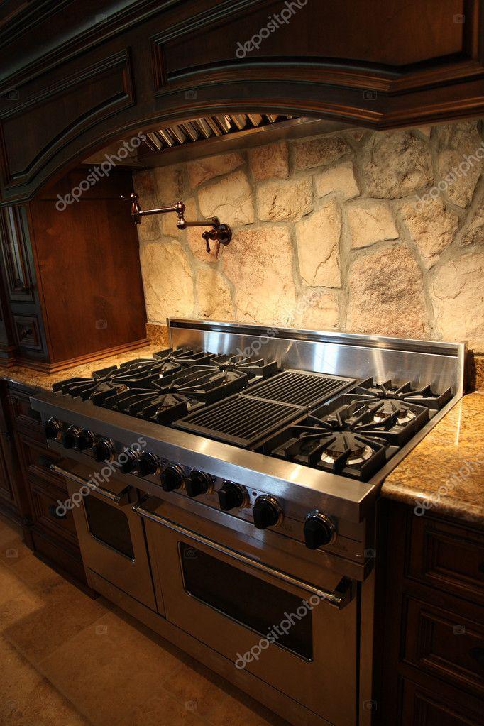 Tennesee casa acero inoxidable estufa y horno de gas - Horno para casa ...
