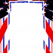 Stock Photo: AmericFlag Border