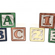 ABC And 123 Blocks Illustration — Stock Photo