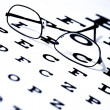 Foto Stock: Eye Chart and Glasses