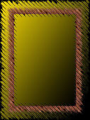 Abstract Olive and Black Frame — Stock Photo