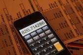 Calculadora de tela de toque — Foto Stock