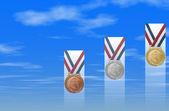 успех: медаль в небо ii — Стоковое фото