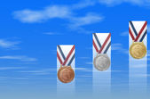 Success: Medal In The Sky II — Stock Photo